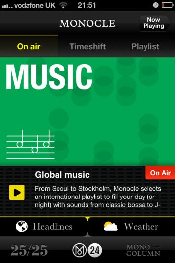 Monocle radio