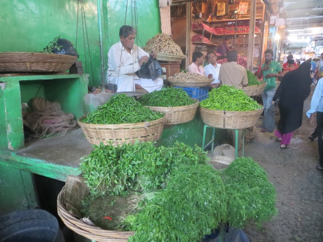 Food markets near the Chor Bazaar