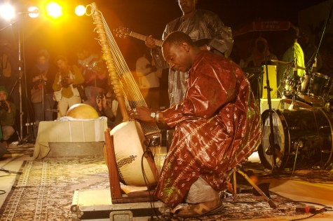 Toumani Diabate at Festival au Desert 2007. This year's festival has been cancelled.